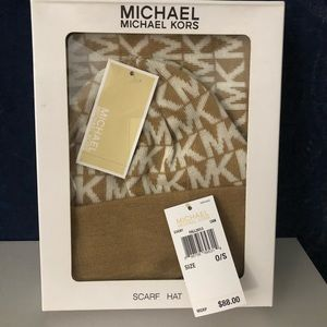 Michael Kors Hat and Scarf NEW!!
